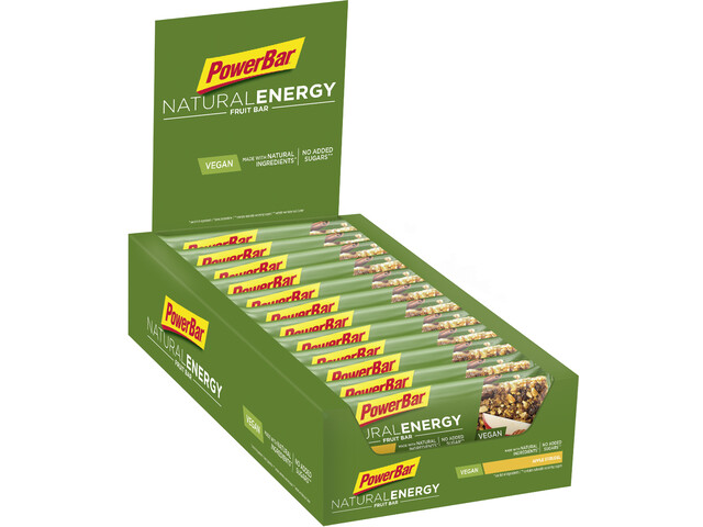 PowerBar Natural Energy Fruit Bar Sacoche 24x40g, Apple Strudel